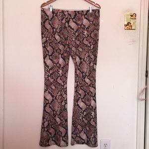 Flare Pants - Snake Effect